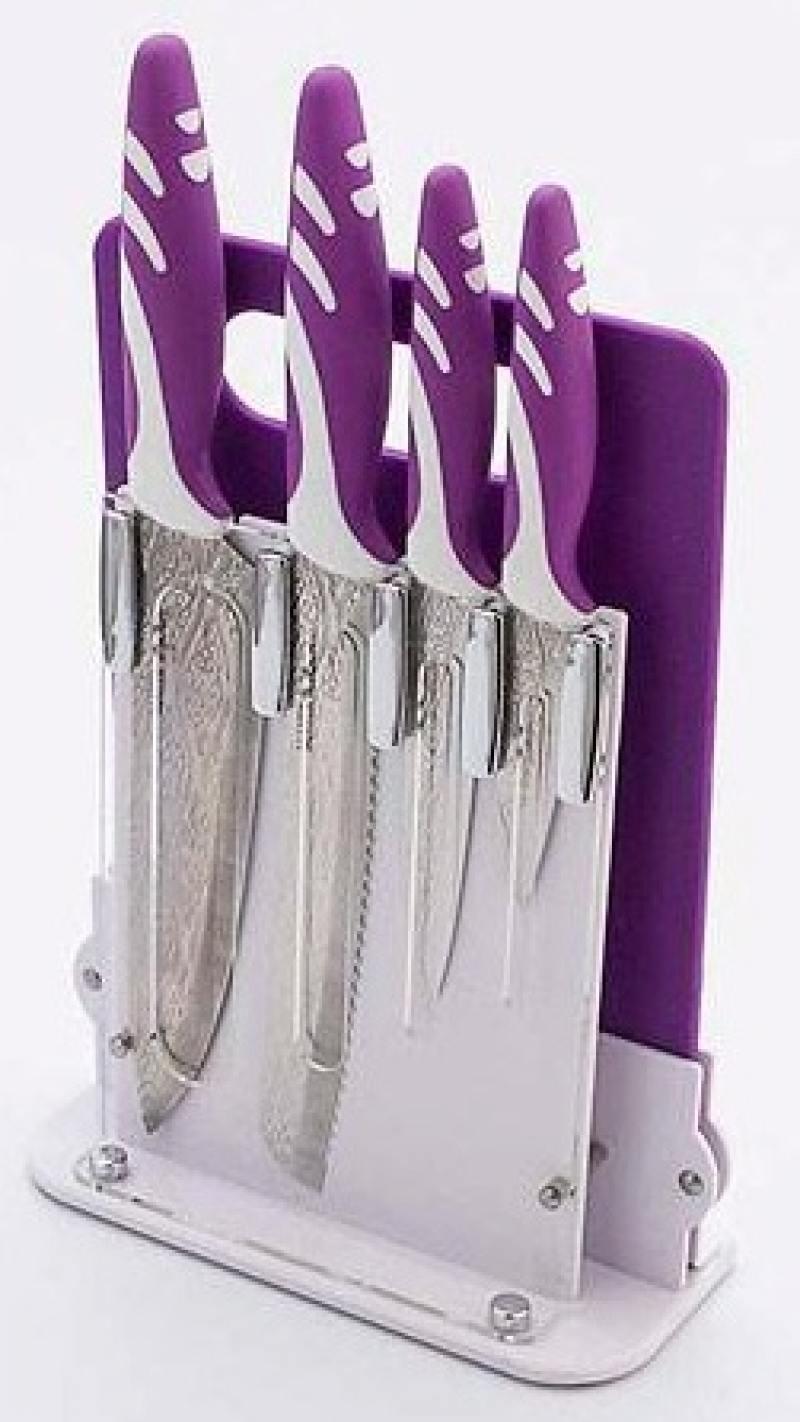 Набор ножей Mayer&Boch 24135 4 предметов на подставке + разделочная доска