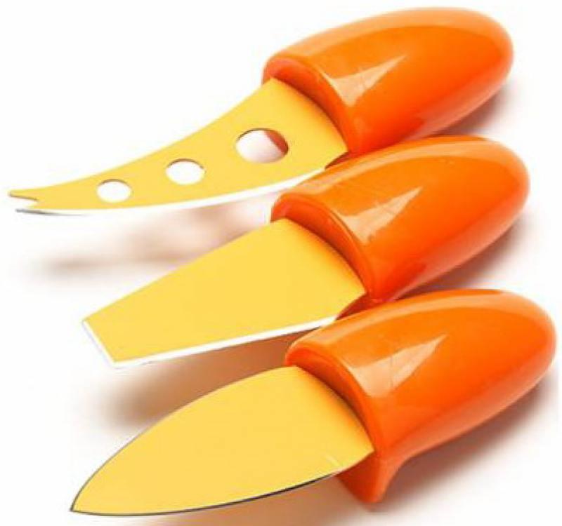 Набор ножей Mayer&Boch МВ-24188-1 3 предмета для сыра оранжевый набор для фондю из 8 предметов mayer and boch мв 21379