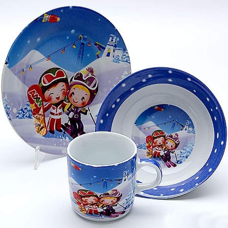 Набор посуды Mayer&Boch Loraine Лыжники 23388 3 предмета детский