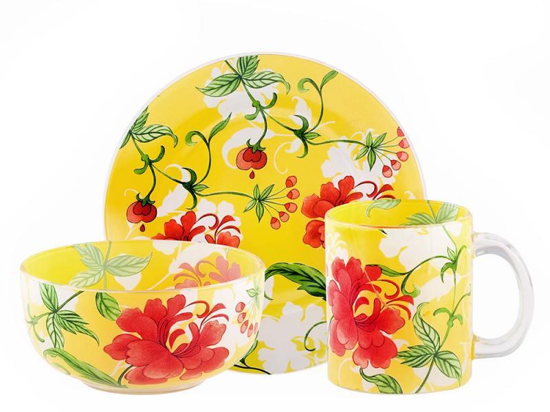 Набор посуды Bekker BK-5821 3 предмета disney набор детской посуды королевские питомцы 3 предмета