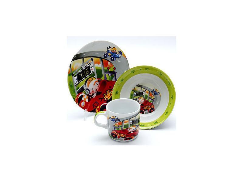 Набор посуды Mayer&Boch Гонки 23387 3 предмета детский