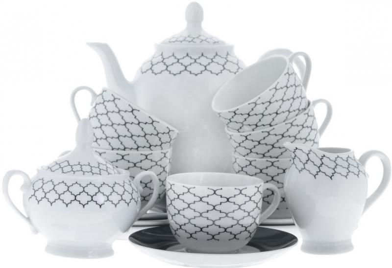 Сервиз чайный Bekker BK-7145 15 предметов 6 персон сервиз чайный bekker bk 7145 15 предметов 6 персон