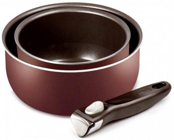Набор ковшей Tefal Ingenio Red 04154830 2 предмета (9100020385) набор посуды со съемной ручкой tefal 24 28 ручка 5 ingenio red 04175820