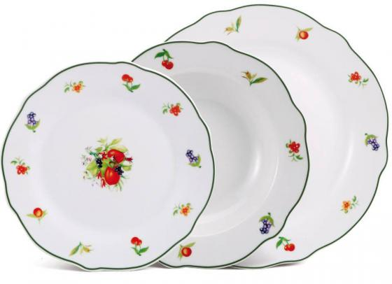 Набор тарелок Bergner BF-8042 18 предметов appella 4351 3014