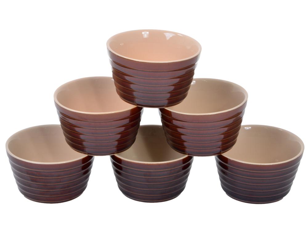 Набор горшочков для запекания (6шт) UNIT UCW-4300 , керамика, серия Duns, объём 6х0,2л. от OLDI