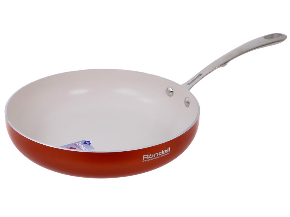 Сковорода без крышки RDA-538 Terrakotte (26 см,штампованный алюминий,руч.нерж.сталь) Rondell сковорода rondell terrakotte d 26 см rda 538