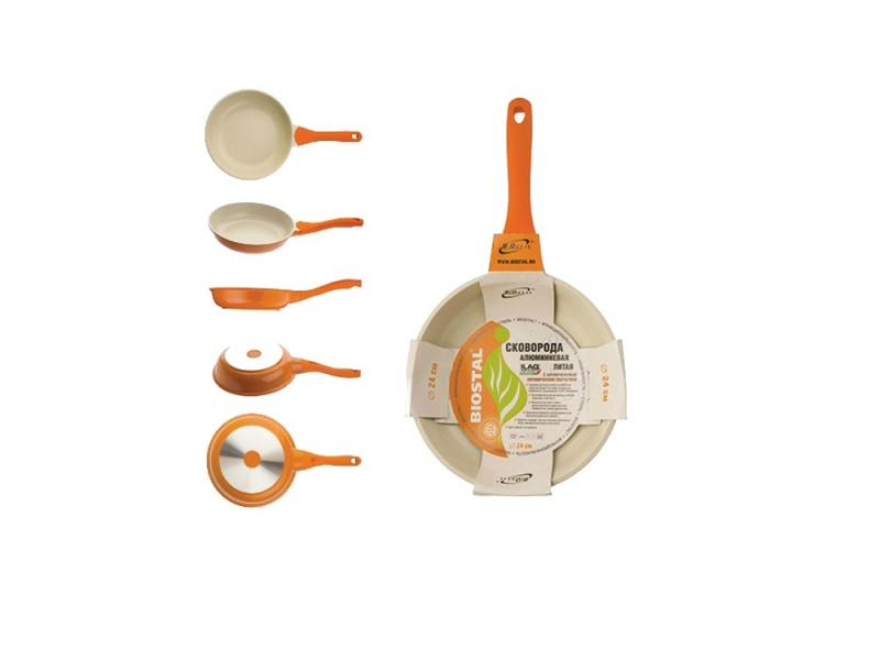 Сковорода BIOSTAL Bio-FP-24 24 см — алюминий