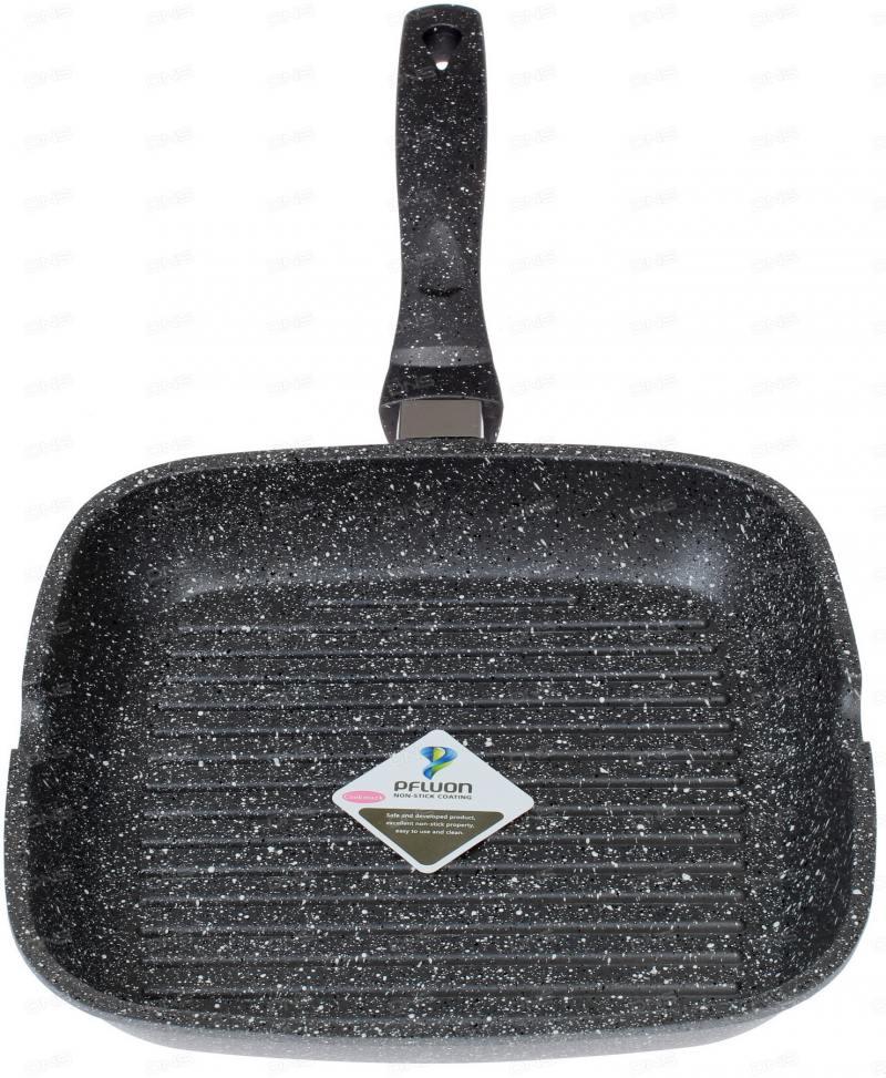 Сковорода-гриль Supra Tedory SAD-T2424G прямоугольная ручка несъемная (без крышки) темно-серый (SAD- supra sad 2032w