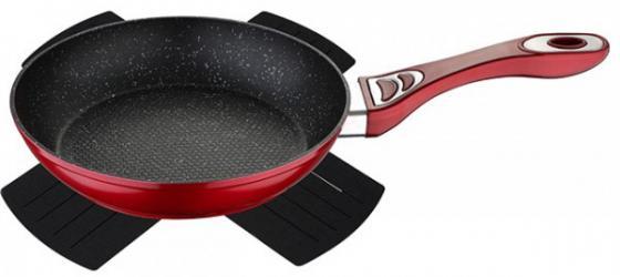 Сковорода Wellberg WB-3362-RD Titan Marble красный