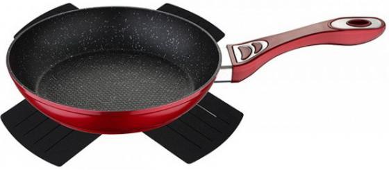 Сковорода Wellberg WB-3360-RD Titan Marble красный