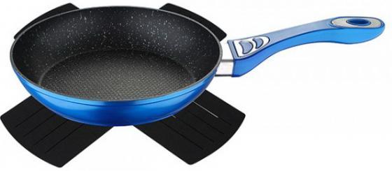 Сковорода Wellberg WB-3360-BL Titan Marble синий