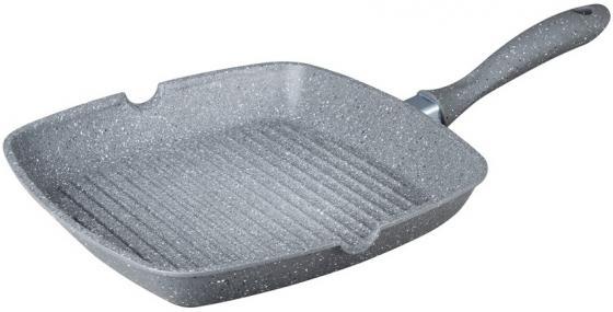 7915-BK Cковорода-гриль BEKKER 28 см SILVER MARBLE Состав: литой алюминий.