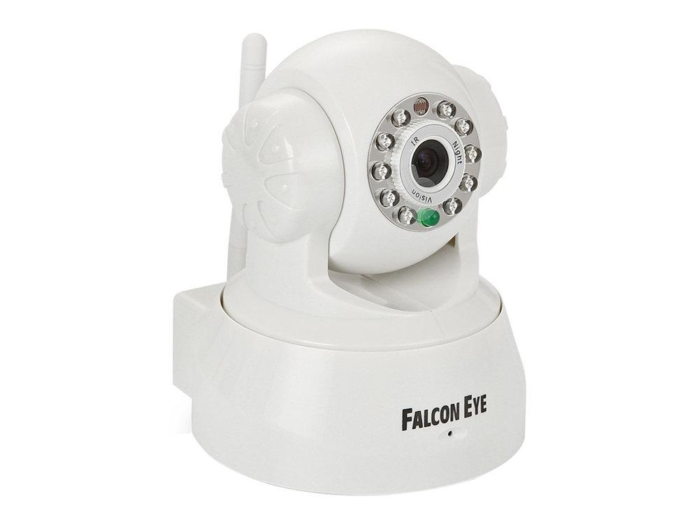 Камера Falcon Eye FE-MTR300WT-P2P Поворотная IP беcпроводная камера 0,3 Мп Белая Камера Falcon Eye FE-MTR300Wt-P2P Поворотная беcпроводная камера 0,3