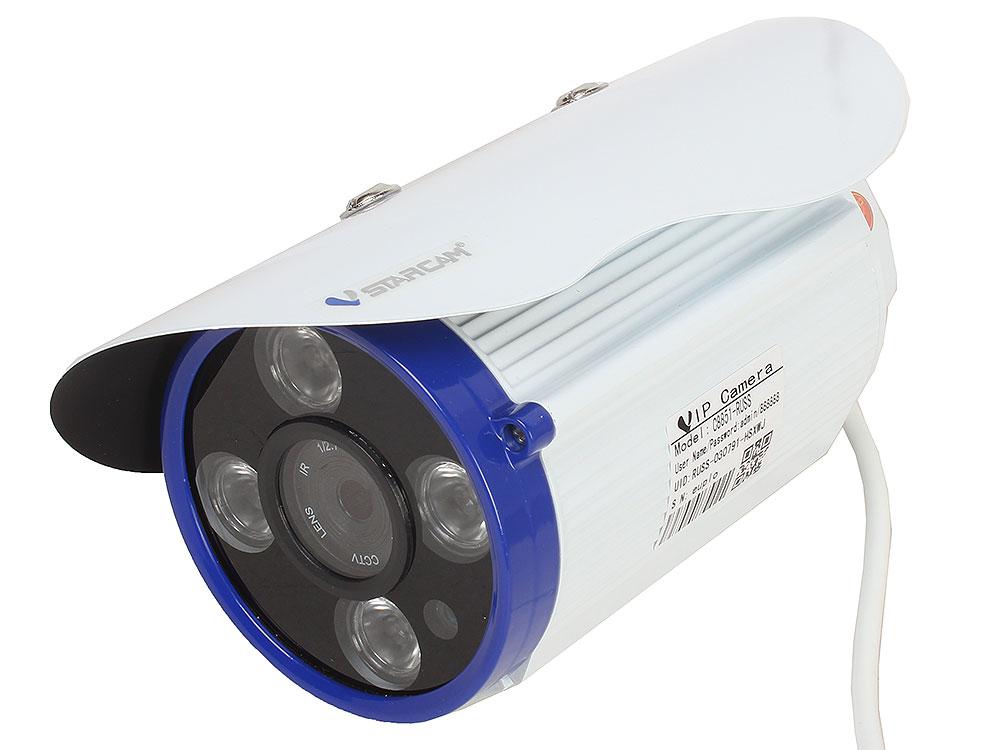 Камера VStarcam C8851WIP Уличная беспроводная IP-камера 1920x1080, IR15M, P2P, 3.6mm, 0.8Lx., 74.6*, MicroSD ip камера vstarcam c7838wip mini c7823