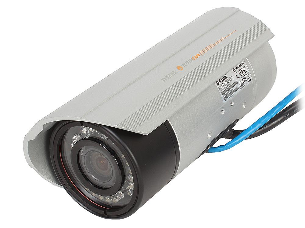 Интернет-камера D-Link DCS-7513/A1A 2 Мп внешняя сетевая Full HD-камера день/ночь, с ИК-подсветкой до 30 м, PoE, вариофокальным моторизованным объекти камера ip d link dcs 4602ev upa a1a poe