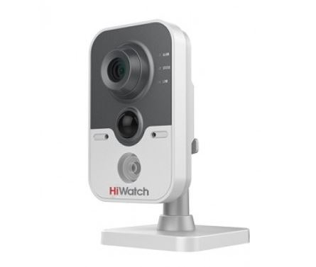 IP-камера HiWatch DS-I114 (2.8mm) 1Мп внутренняя IP-камера c ИК-подсветкой до 10м 1/4'' CMOS матрица; объектив 2.8мм; угол обзора 67°; механический ИК ip камера hiwatch ds i122 4 mm 1 3мп уличная купольная мини ip камера ик подсветкой до 15м 1 3 cmos матрица объектив 4мм угол обзора 73 1° ме