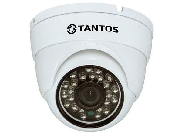 IP-камера TANTOS TSi-Vecof22 (3.6) уличная 2 мегапиксельная купольная антивандальная IP видеокамера видеодомофон tantos lilu lux