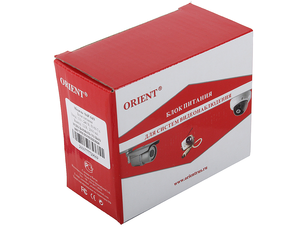 Блок питания для видеокамер Orient SAP-04N, OUTPUT: 12V DC 2000mA s 500 12 500w 12v 40a single output switching power supply for led strip light ac dc