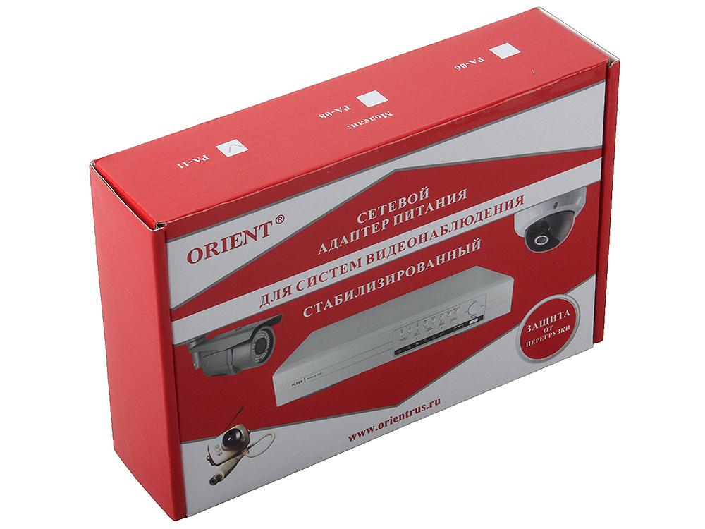 Блок питания ORIENT PA-11, OUTPUT: 12V DC 5.5A, защита от КЗ и перегрузки (Imax~5.8-6.2A) блок питания orient pa 06 output 12v dc 3a защита от кз и перегрузки imax 3 8 4 1a