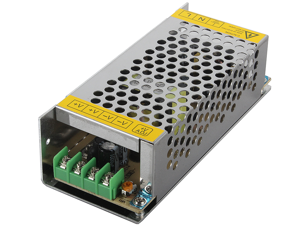 Блок питания ORIENT PB-20U2, OUTPUT: 12V DC 10A, стабилизированный, защита от КЗ и перегрузки (Imax~11A), регулятор напряжения, 2 выхода, металлически блок питания orient pa 06 output 12v dc 3a защита от кз и перегрузки imax 3 8 4 1a