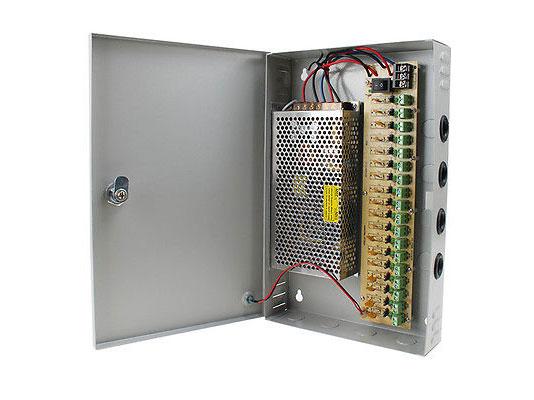 Блок питания ORIENT PB-1810, OUTPUT: 12V DC AC 100-240V/ DC 12V, 18 выходов x 550mA ( Imax ~ 10A ), стабилизированный, защита от КЗ, ручная подстройка