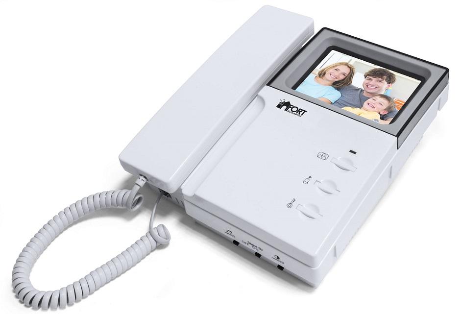 Видеодомофон FORT Automatics C0406A с аналоговым блоком сопряжения камера ip fort f103