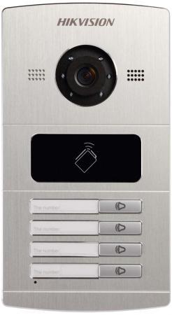 Вызывная панель Hikvision DS-KV8402-IM серебристый вызывная панель hikvision ds kv8202 im