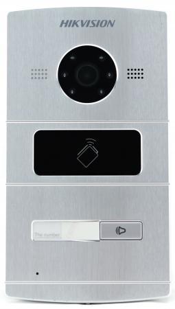 Вызывная панель Hikvision DS-KV8102-IM серебристый вызывная панель hikvision ds kv8202 im