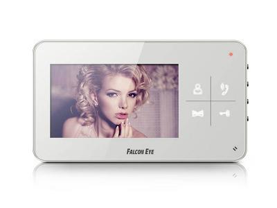 Видеодомофон Falcon Eye FE-40C Цветной, подключение 2-х вызывных панелей, без трубки (Hands Free), управление электрозамком, цвет корпуса