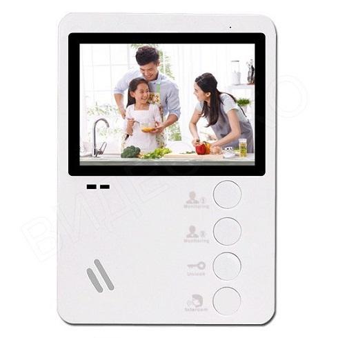 """Комплект видеодомофона """"Энтер"""" Falcon Eye FE-43С + AVP-506 + FE-2369 + АТ-12/30 Цветной видеодомофон, подключение 2 вызывных панелей"""
