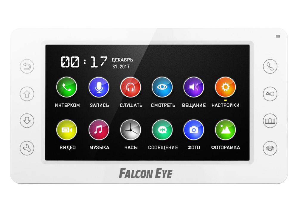 Видеодомофон Falcon Eye FE-70CH ORION DVR Видеодомофон: дисплей 7 TFT; сенсорные кнопки; подключение до 2-х вызывных панелей и до 2-х видеокамер; адр