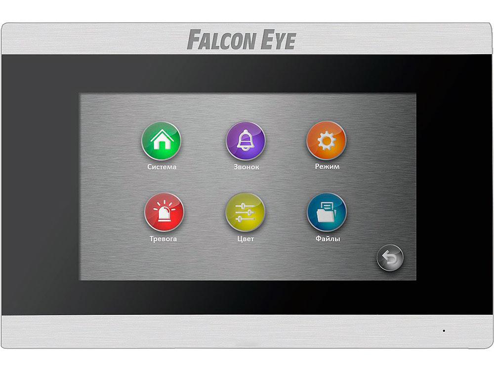 Видеодомофон Falcon Eye FE-70 ARIES (Black) дисплей 7 TFT; сенсорный экран; подключение до 2-х вызывных панелей и до 2-х видеокамер; интерком; графи видеодомофон falcon eye fe 70 capella dvr white дисплей 7 tft сенсорный экран подключение до 2 х вызывных панелей и до 2 х видеокамер адресный