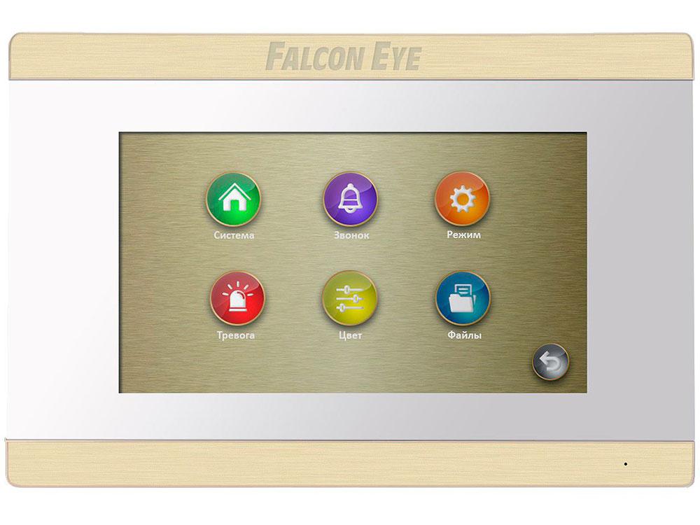 Видеодомофон Falcon Eye FE-70 ARIES (White) дисплей 7 TFT; сенсорный экран; подключение до 2-х вызывных панелей и до 2-х видеокамер; интерком; графи видеодомофон falcon eye fe 70 capella dvr white дисплей 7 tft сенсорный экран подключение до 2 х вызывных панелей и до 2 х видеокамер адресный