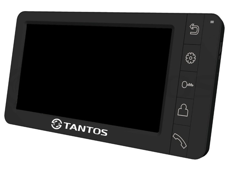Видеодомофон TANTOS Amelie - SD (Black) цветной, TFT LCD 7, PAL/NTSC, Hands-Free, запись фото при вызове, 2 панели, 2 камеры, до 4-х шт. в параллель, new lcd display 7 inch fy07024di26a30 1 fpc1 a tablet 30pins 163 97mm lcd screen matrix replacement panel free shipping
