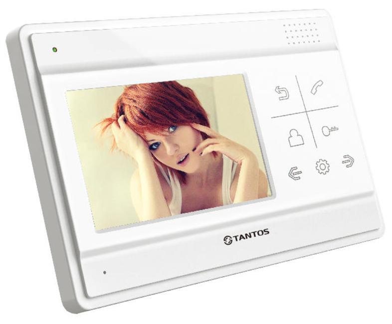 Видеодомофон TANTOS LILU цветной, TFT LCD 4,3 480x234, PAL/NTSC, Hands-Free. Возможности подключения: 4 монитора, 2 вызывные панели. Адресный интерко 2 8 inch tft lcd touch screen lcd shield kit with tf card for arduino
