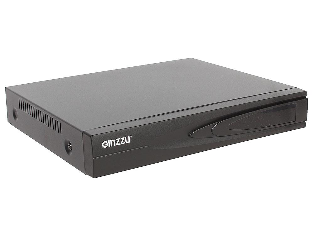 Регистратор Видеонаблюдения GINZZU HD-411 4-канальный 1080N гибридный 3 в 1 видеорегистратор