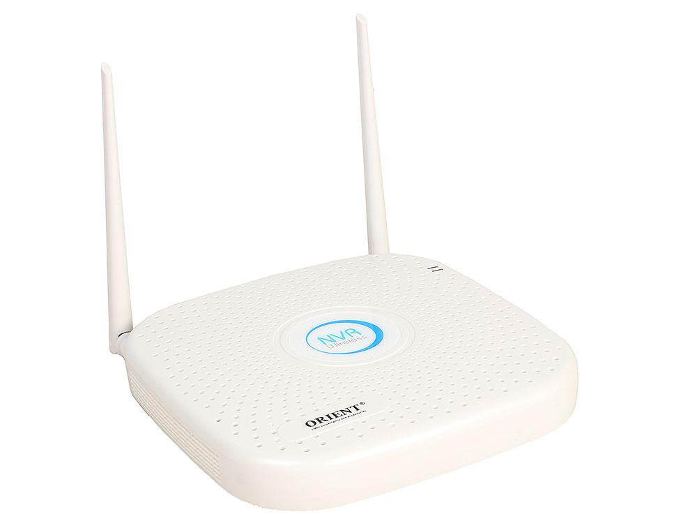Видеорегистратор ORIENT NVR-8309/4K Wi-Fi беспроводной 9-канальный сетевой регистратор для IP камер (WiFi / проводных), 8 x 4K(4096x2160)@25fps, 9 x 5 cctv видеорегистратор cctvman cctv ip nvr 32 onvif 720p 960 p 1080p ip 8 sata hdd 2u p2p hdmi 32ch netowrk cmnx332