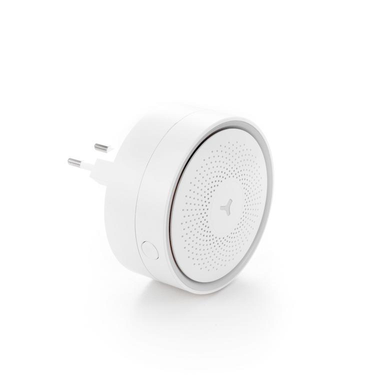 Комплект Wi-Fi охранной сигнализации Gmini AS100WPR , датчик открытия двери/окна, датчик движения, брелок беспроводной двери окна безопасности вибрация детектор сигнализации 110db ld 02 белый