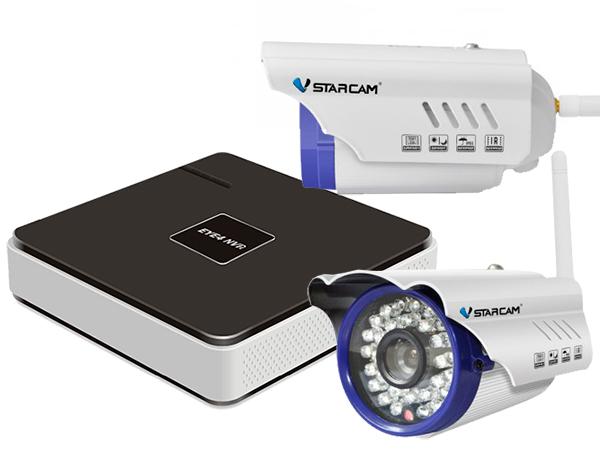 Комплект видеонаблюдения Vstarcam NVR-C15 KIT Vstarcam N400P + Беcпроводная IP-камера Vstarcam C7815WIP x2