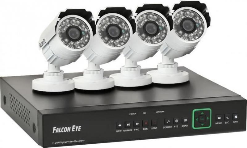 Комплект видеонаблюдения Falcon Eye FE-3104AHD KIT 1080N 4 камеры с ИК подсветкой 1/4