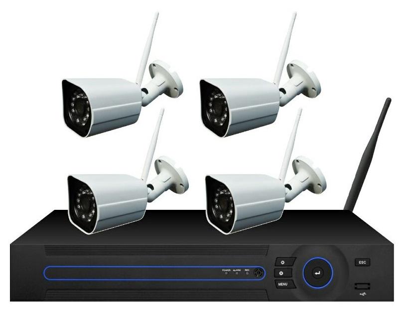 Комплект видеонаблюдения ORIENT NVR+4IPC, 720p Wi-Fi Беспроводной 9-канальный сетевой регистратор 720p (1280x720@25fps со звуком, H