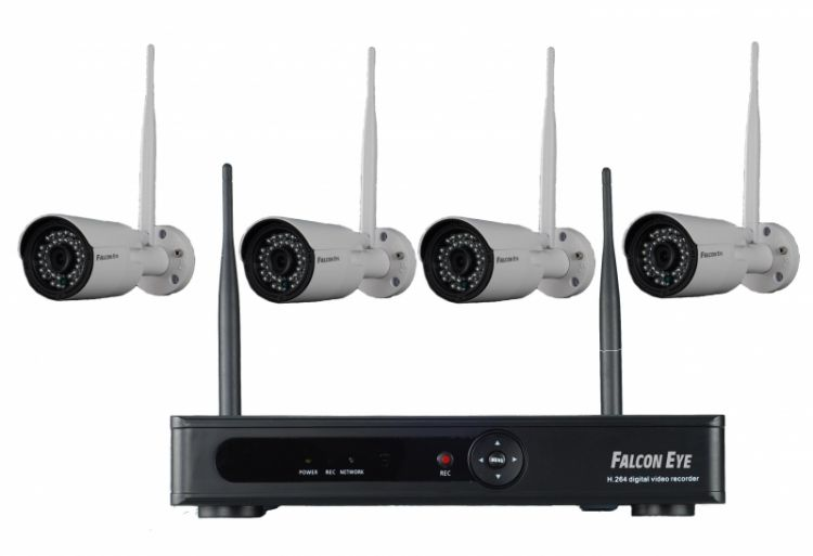 Комплект IP видеонаблюдения Falcon Eye FE-1104WIFI KIT falcon eye fe nr 2104 ip видеорегистратор black