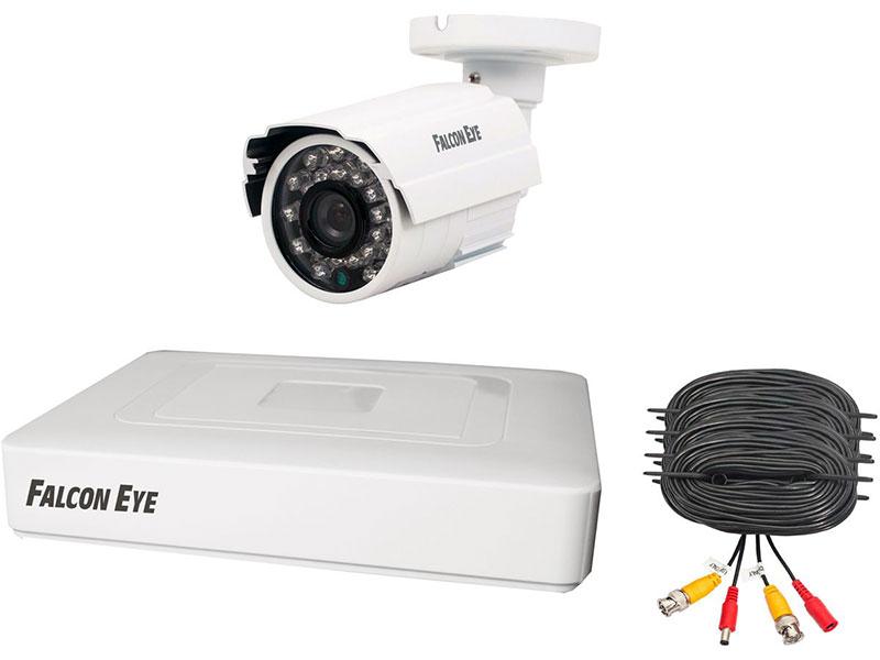 Комплект видеонаблюдения Falcon Eye FE-104MHD KIT Start 4 канальный + 1 камера гибридный(AHD,TVI,CVI,IP,CVBS) регистратор; Видеовыходы: VGA;HDMI; Вид комплект ip видеонаблюдения falcon eye fe home kit ip камера и 2 датчика двери и датчик дымаip видеокамера объектив 2 8мм матрица 1 4 cmos разрешен
