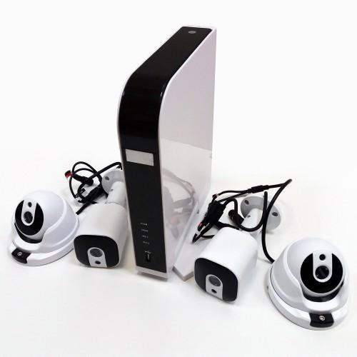 Комплект видеонаблюдения Vstarcam KIT M104 Регистратор + 2х 1Mp купольных, 2х 1Mp цилиндрических камеры.