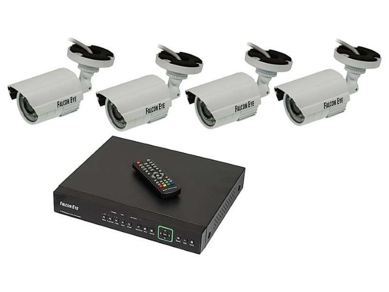 Комплект видеонаблюдения Falcon Eye FE-104MHD KIT SMART Дача 4CH H.264+ 1080P Lite 15fps 5 in 1 DVR :4ch 1080P Lite 15fps Re sannce 8 channel 720p 1080n h 264 video recorder hdmi network cctv dvr 8ch for home security camera surveillance system kit