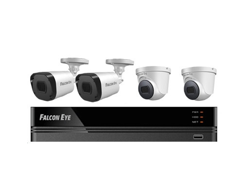 Комплект видеонаблюдения Falcon Eye FE-104MHD KIT SMART Дом 4CH H.264+ 1080P Lite 15fps 5 in 1 DVR :4ch 1080P Lite 15fps Recording/4ch PlaybackVideo I/O:4/1; Audio I/O: 1/1;HDMI,VGA,CVBS,SATA*1(8T HDD