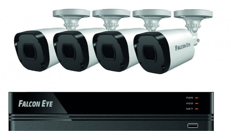 Комплект видеонаблюдения Falcon Eye FE-2104MHD KIT SMART 4CH H.265+ 1080P 12fps DVR :4ch 1080P 15fps Recording/4ch Playback5MP Lite@12fps/1080P@15fps/