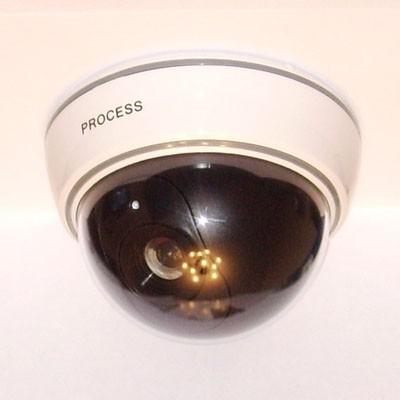 Муляж камеры видеонаблюдения Orient AB-CA-07 D, LED (мигает), датчик движения, полусфера большая