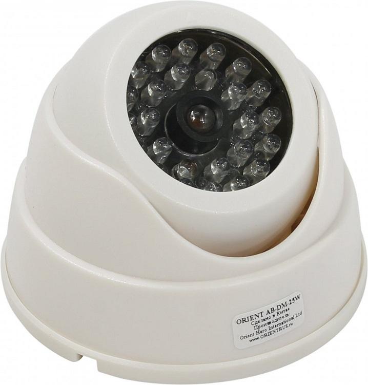 Муляж камеры видеонаблюдения Orient AB-DM-25W купольная, LED (мигает), для наружного наблюдения
