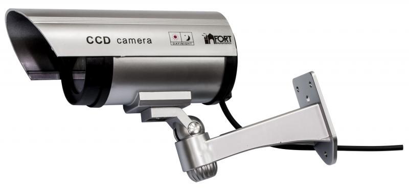 Муляж камеры видеонаблюдения FORT Automatics DC-027 наружное исполнение, красный светодиод RET фиоле аксессуар закаленное стекло motorola moto e4 df fullscreen mcolor 03 black
